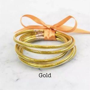 BANGLES, Multi-Layer  Gold jelly Bracelets.